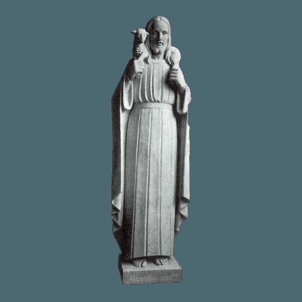 Jesus The Shepherd Granite Statue