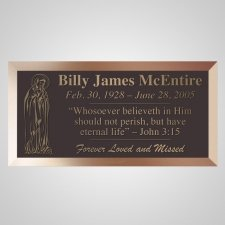 Praying Mary Bronze Plaque