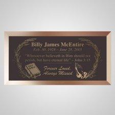 Holy Bible Bronze Plaque