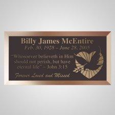 Loving Dove Bronze Plaque