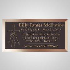 Praying Cross Bronze Plaque