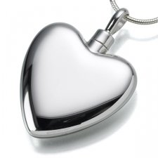 Large Heart Cremation Pendant