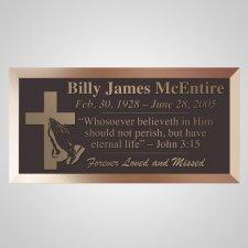 Eternity Cross Bronze Plaque