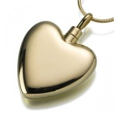 Large Heart Cremation Pendant IV