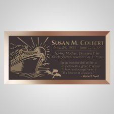 Cruise Bronze Plaque
