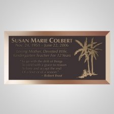 Palm Trees Bronze Plaque