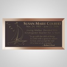 Sailing Bronze Plaque