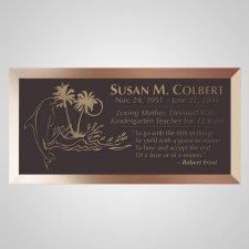 Dolphin Island Bronze Plaque