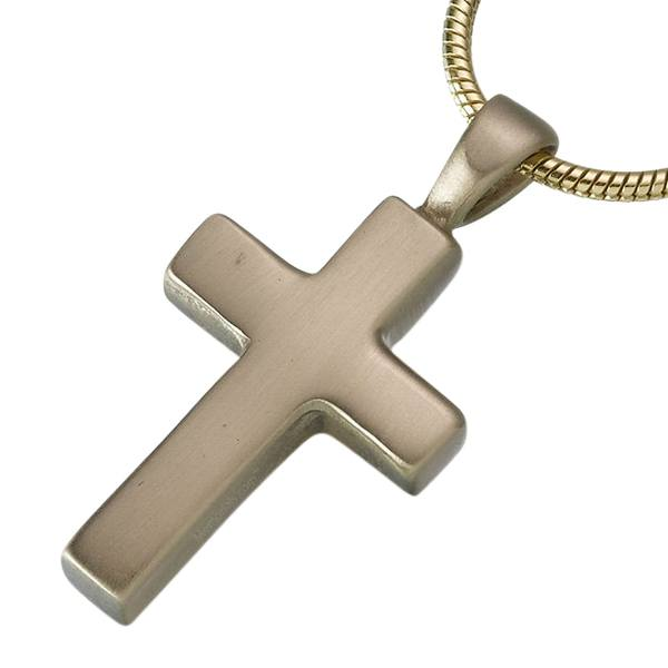 Brass Cross Cremation Jewelry
