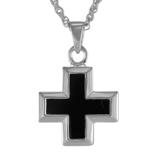 Onyx Mini Cross Keepsake Pendant