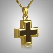 Onyx Mini Cross Keepsake Pendant IV
