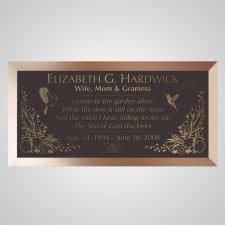 Garden of Eden Bronze Plaque