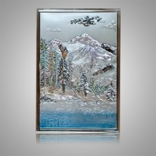 Mountain Lake Silver Medallion Appliques