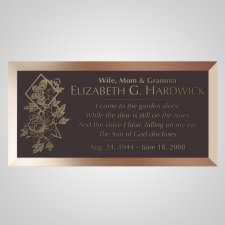 Forever Bronze Plaque