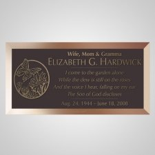 Peaceful Garden Bronze Plaque