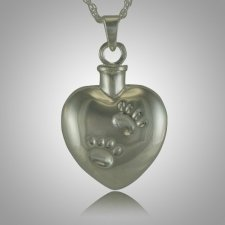 Pet Heart Paw Print Cremation Jewelry III
