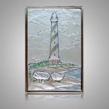 Hatteras Lighthouse Silver Medallion Appliques