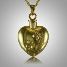 Pet Heart Paw Print Cremation Jewelry II