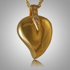 Indented Heart Keepsake Pendant II