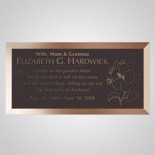 Large Flower Bronze Plaque