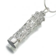 Chromate Glass Filigree Cremation Pendant