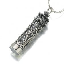 Antique Glass Filigree Cremation Pendant