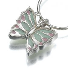 Butterfly Cremation Keepsake Pendant