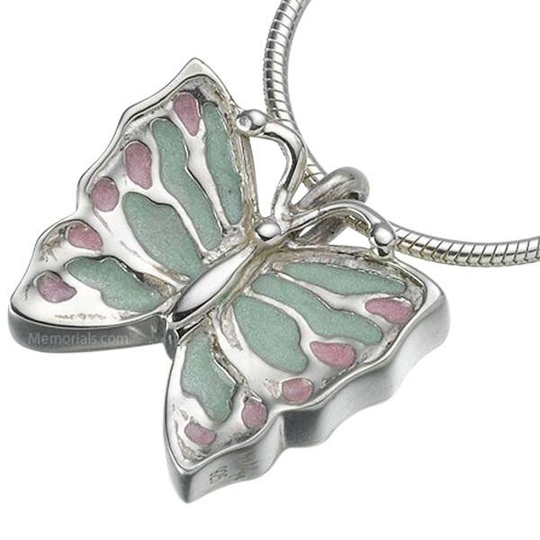Butterfly Cremation Keepsake Pendant