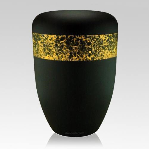 Speckled Yellow Biodegradable Urn