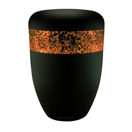 Speckled Orange Biodegradable Urn