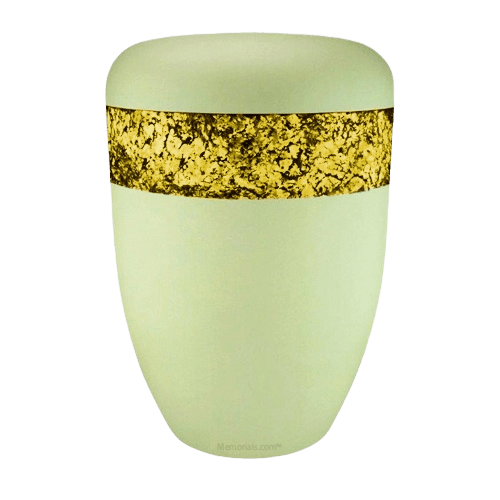 Snakeskin Yellow Biodegradable Urn