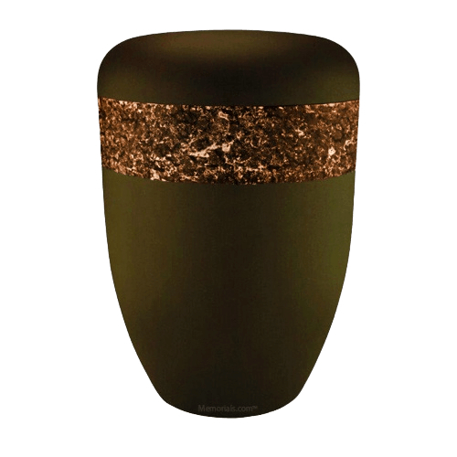 Crystal Orange Biodegradable Urn