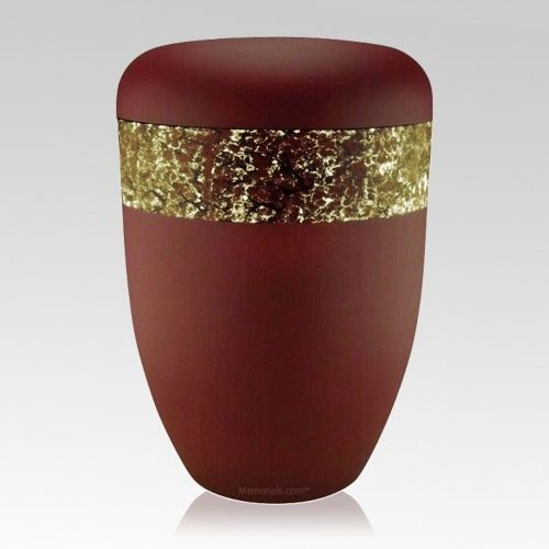 Scarlet Gold Biodegradable Urn