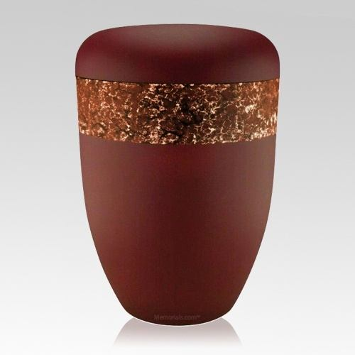 Scarlet Orange Biodegradable Urn