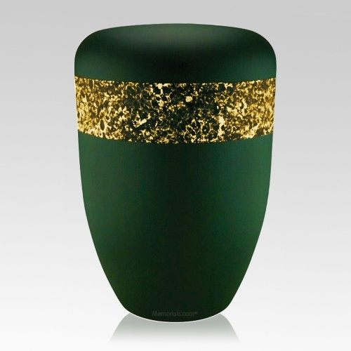 Emerald Gold Biodegradable Urn