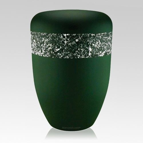 Emerald Silver Biodegradable Urn