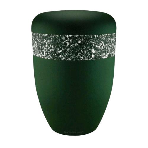 Emerald Silver Biodegradable Urn