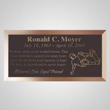 Skateboarder Bronze Plaque