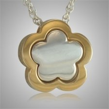 Flower Shaped Cremation Pendant
