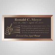 Musician Bronze Plaque