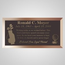 Golfing Bronze Plaque