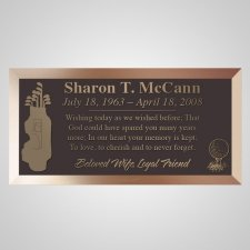 Golf Clubs Bronze Plaque