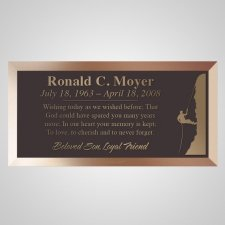 Climber Bronze Plaque