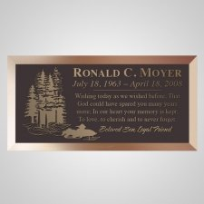 Snowmobile Bronze Plaque