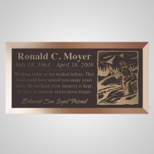 Fisherman Bronze Plaque