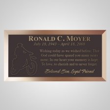 Rider Bronze Plaque