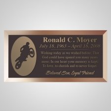 Bike Jump Bronze Plaque