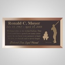 Up To Bat Bronze Plaque