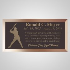 Homerun Bronze Plaque