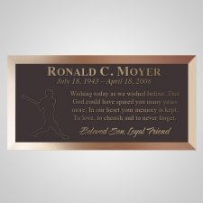 Line Drive Bronze Plaque